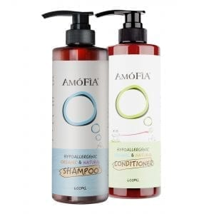 AMOFIA Hypoallergnic Organic Natural Shampoo & Conditioner