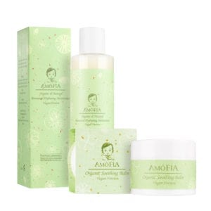 AMOFIA Organic Eczema Soothing Set (Vegan Version)